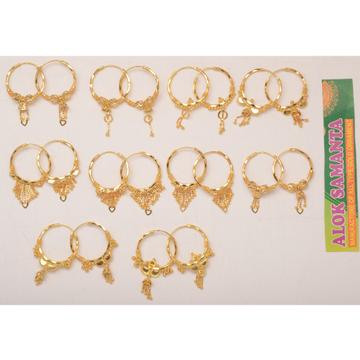 916 Gold Designer Bali Earring