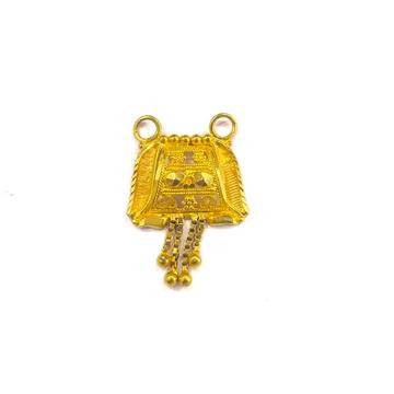 22K GOLD PLAIN LADIES MANGALSUTRA PENDANT by Shreeji Silver Palace