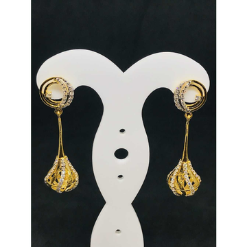 916 Ladies Long Fancy Gold Earring Er-60049