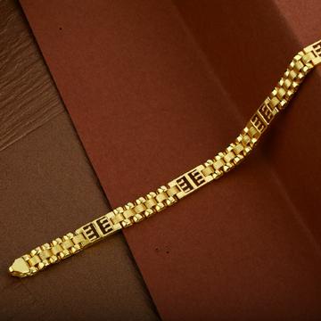 Mens 916 Gold Cartier Cz Bracelet-MCRB20