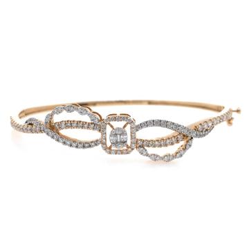 18kt / 750 rose gold classic diamond bracelet 9brc8