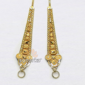 Gold Earchain SK - K037