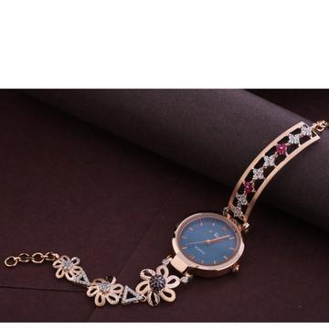 18KT Rose Gold CZ Hallmark stylish  Watch RLW305