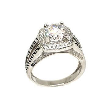 925 Sterling Silver Modern Ring MGA - LRS3373