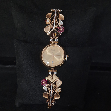 FANCY ROSE GOLD FLOWER LADIES WATCH