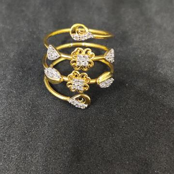 Ladies Designer Spring Gold Ring -24951