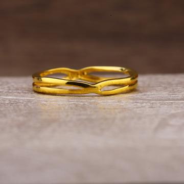 916 Gold Classic Plain Ring LPR246