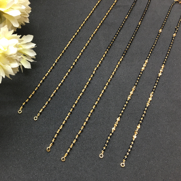 attracted design of single line gold capping mangalsutra ser