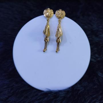 22KT/916 Yellow Gold Cantis Earrings For Women