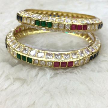 22kt gold colorful bangle rh-b002