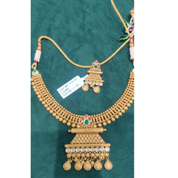 916 Gold Hallmark Jadtar Necklace set  by