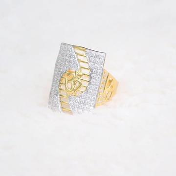916 Gold 22KT Daimond CZ OM Ring RH-GR99