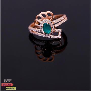 ROSE GOLD LADIES BLUE STONE  CLASSIC RING