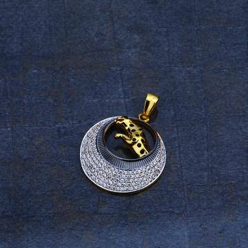 Mens Exclusive Jaguar Design Gold 22K Pendant-MHP09