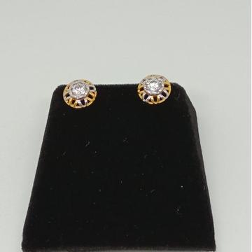 916 Gold Fancy Round Earring MJ-E017