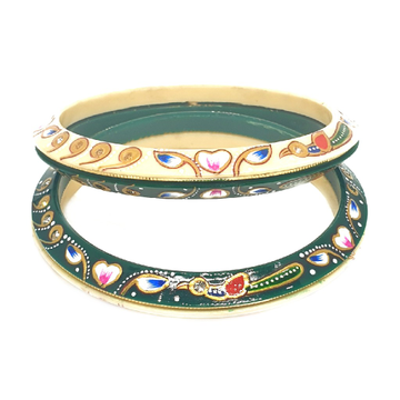 22k gold peacock shaped chudla bangles mga - cdg0031