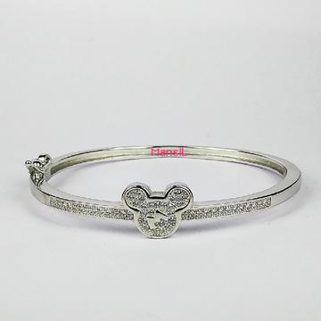 92.5 sterling silver Baby kada bracelet ML-109