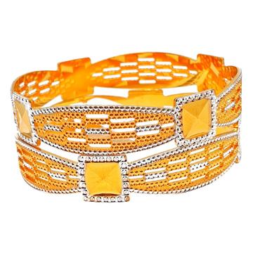 1 gram gold forming designer 2 piece bangles mga - bge0232