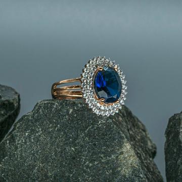 Blue sapphire &Real diamond by