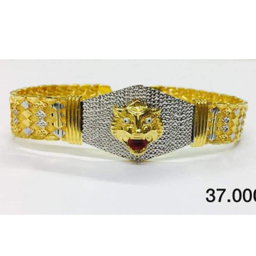 22 carat gold tiger gents lucky RH-bt135