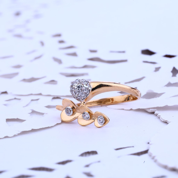Ladies 18K Rose Gold Ring-RLR101