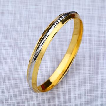 Mens 916 Gold Punjabi Kada Bracelet-MPKB11