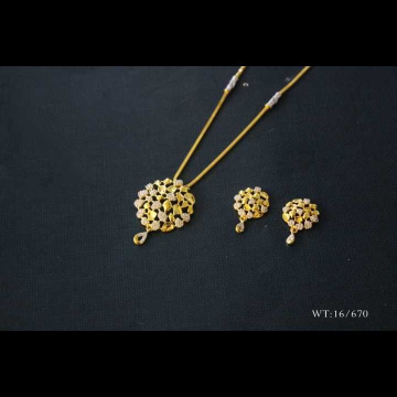 22 K Gold Fancy Pendant Set. NJ-P01150