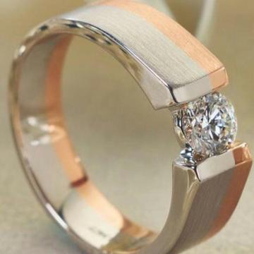 950 Platinum Subtle Heaven Solitaire Ring For Men