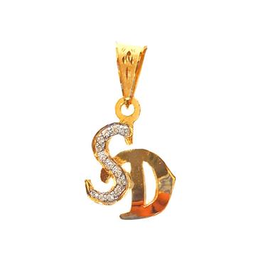 22K Gold Monogram (Letter SD) Pendant MGA - MGP002