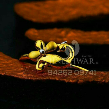 916 Fancy Plain Casting Gold Ladies Ring LRG -0680
