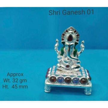 Cholel Nakshi Handmade Dull Finishing Vaccum Casting Dimond Patli Small Size Ganpatiji Murti(Bhagvan,God,Idols) Ms-2184