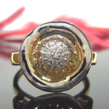 916 Gold Cz Diamond Cocktail Ladies Ring