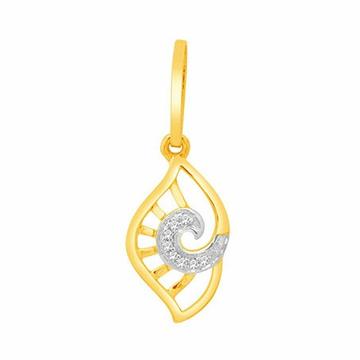 18k gold real diamond pendant mga - rp0030
