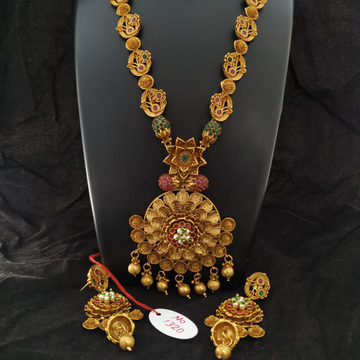 antique long necklace set#244