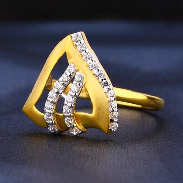 22ct gold cz ladies diamond ring lr439
