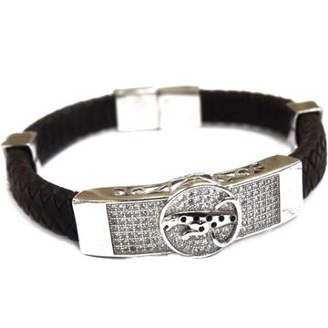 925 Sterling Silver Gents Jaguar Kada Bracelet MGA - BRS0181