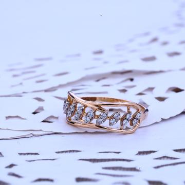 Ladies Designer Rose Gold 18K Cz Ring-RLR206