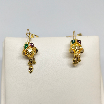 18Kt gold colorful earring dj-e023 by