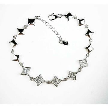Fancy 925 Silver Ladies Bracelet