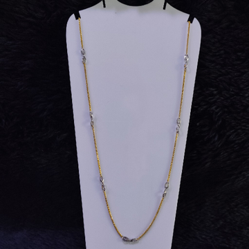 22KT/916 Yellow Gold Dax Rodiyam Chain For Women
