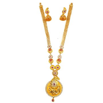1 gram gold forming necklace set mga - gfn0015