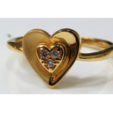 22kt gold casting cz heart shape ladies ring lsr-5
