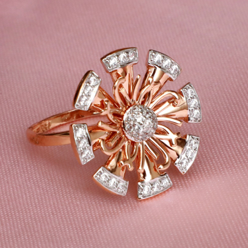 22Kt Gold CZ Fancy Ring For Wedding PJ-R029