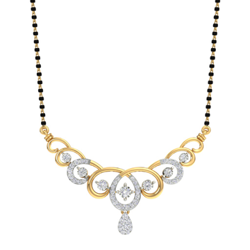 Real diamond fancy mangalsutra by