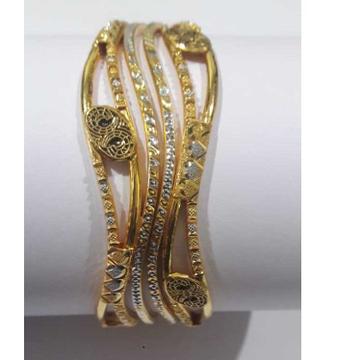 916 Gold Fancy Designer Copper Kada by