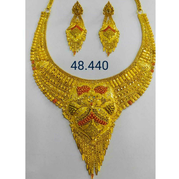 22k Gold Necklace Set Butii by