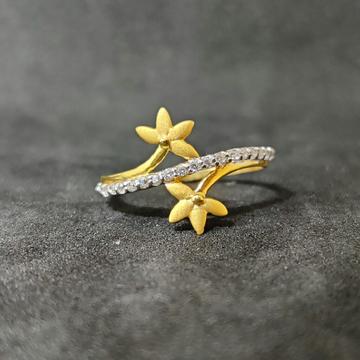 22k Girls Fashionable Gold Ring-17034