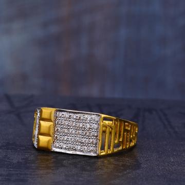 916 CZ Gold Gorgeous Gentlemen's Ring MR686