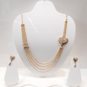 22kt, 916 Hall-Marked, rose gold bridal Royal heart badge Design Necklace For Women Jkn028