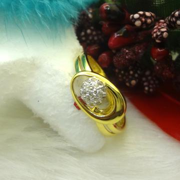 916 GOLD CZ DIAMOND LADIES RING by